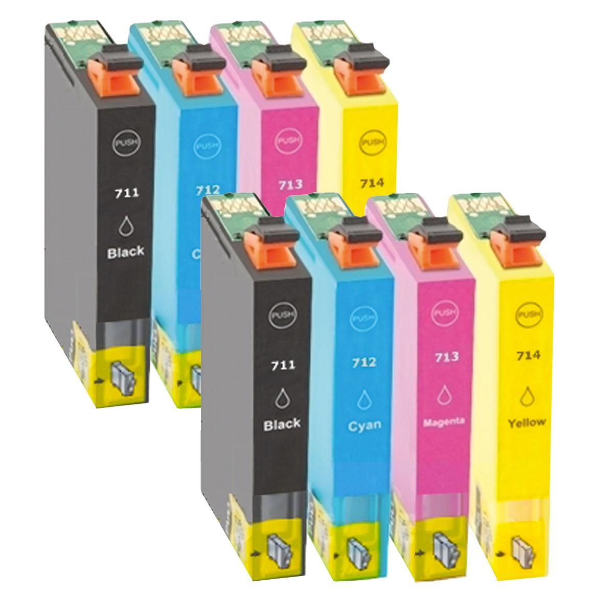 Afbeelding van 2x Epson T0715 multipack (huismerk inktcartridges)