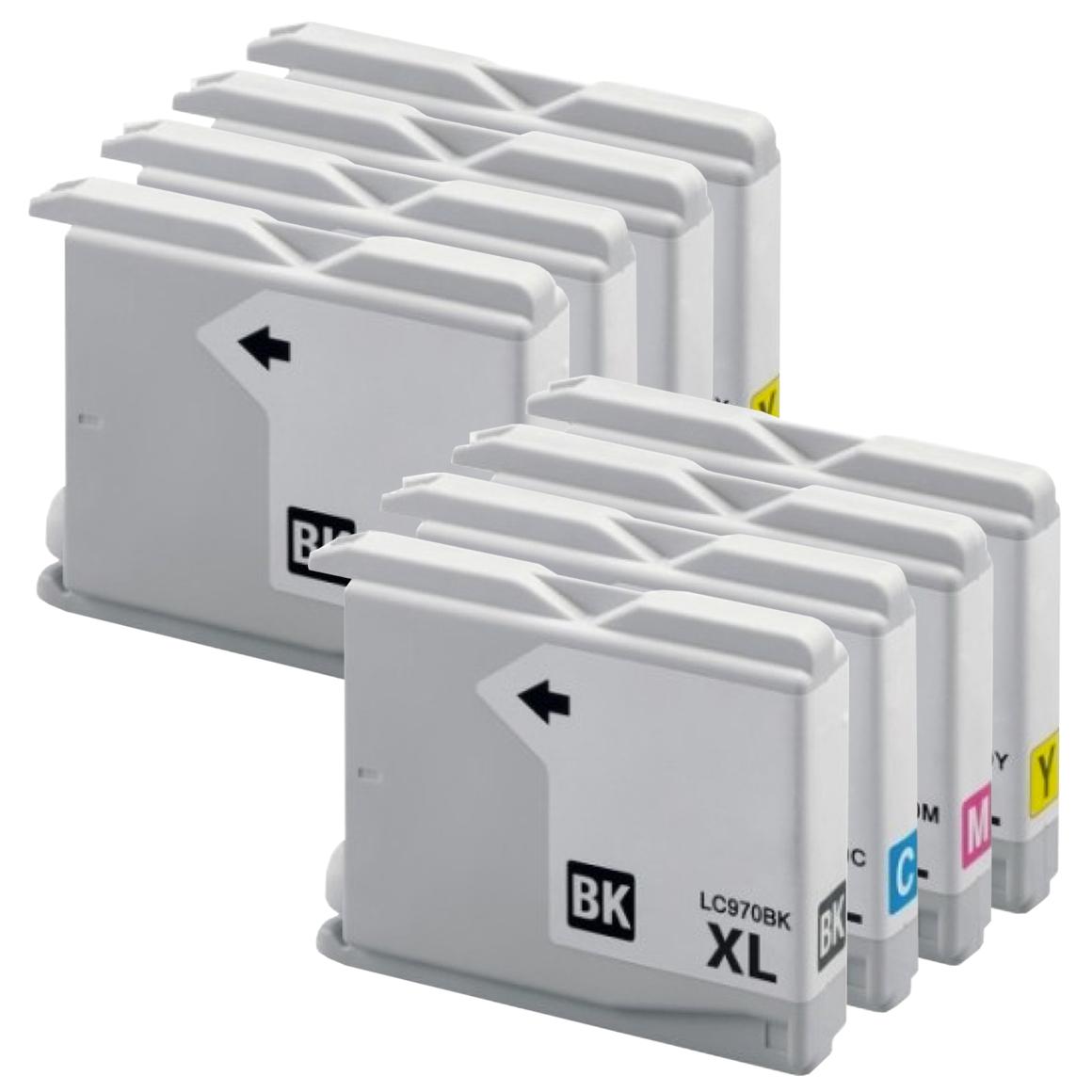 Afbeelding van 2x Brother LC 970 XL multipack (huismerk inktcartridges)