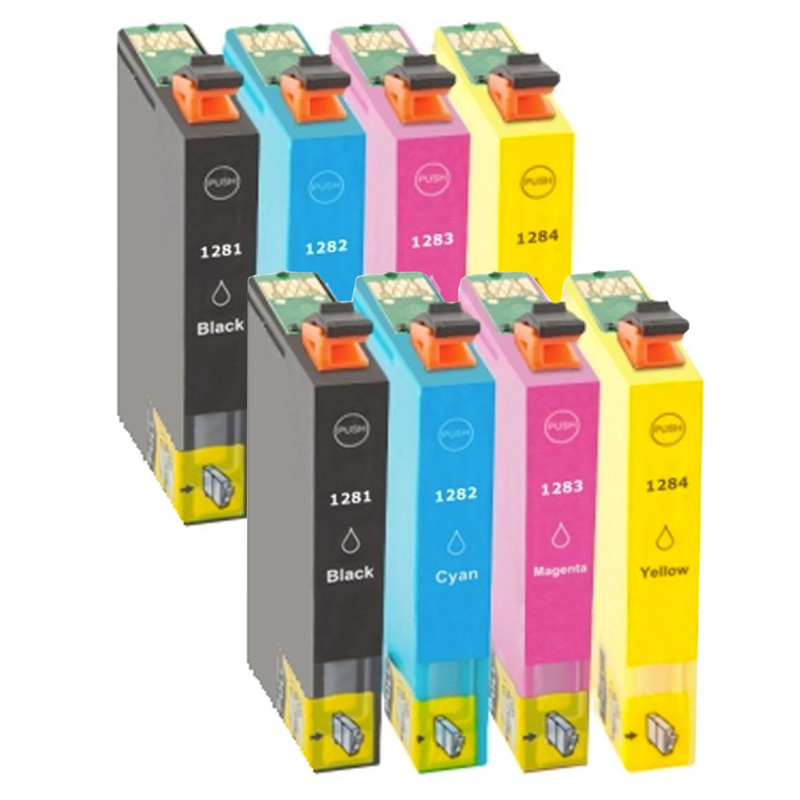 Afbeelding van 2x Epson T1285 multipack (huismerk inktcartridges)